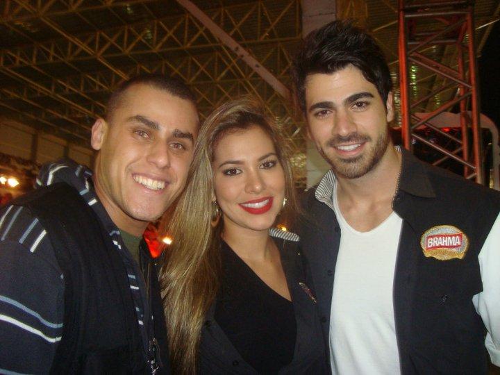 Sidinei Bento com Adriana e Rodrig�o do ex-BBB