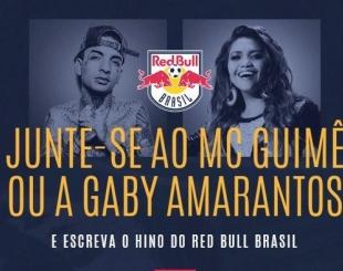 MC Guim� e Gaby Amarantos convocam torcedores do Red Bull Brasil para criar segunda estrofe do hino