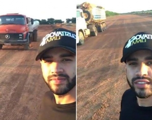 Gusttavo Lima constrói pista de jatinho na porta de sua casa