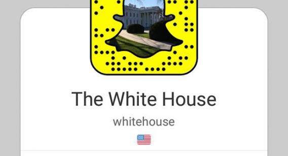 Casa Branca cria perfil no Snapchat.